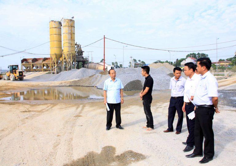 PY: Đình chỉ hoạt động trái phép Trạm trộn bê tông tươi của doanh nghiệp tư nhân Việt Cường.